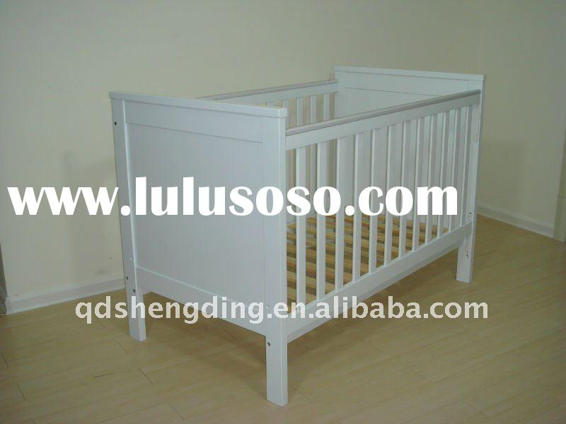 Solid Wood Baby Cot BC-025