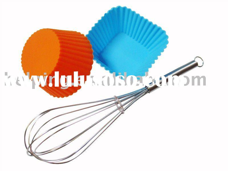 Stainless steel mini whisk&Silicone cake mould kitchen cookware baking tools