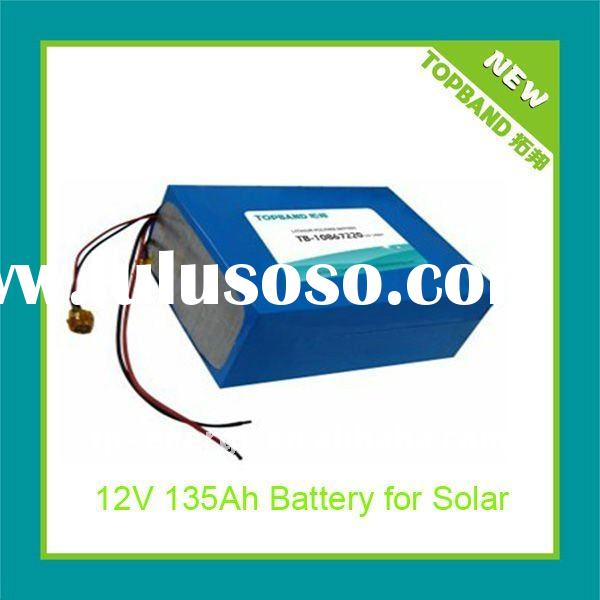 TOPBAND Rechargeable Lipo Solar Battery Pack with BSM Protection
