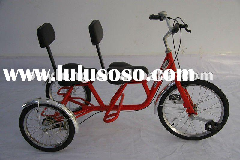 three wheel bicycle double seat children tricycle for 5 99 years old. Black Bedroom Furniture Sets. Home Design Ideas