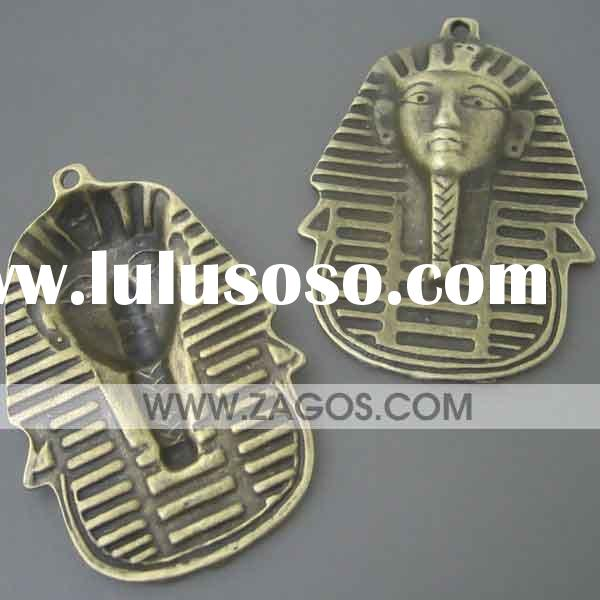 Tibetan Beads Wholesale, Charms,Pendants beads,Made of zinc alloy, Antique Brass,Pharaoh,50mm long,