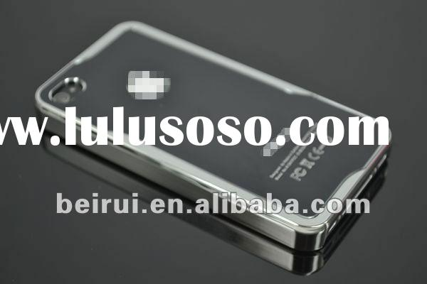 Top quality! plated electroplate aluminum case PC hard case for iphone 4/4S
