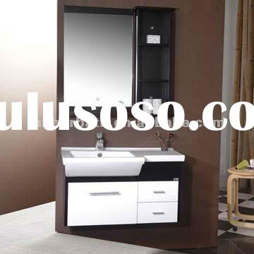 Unique white gloss modern complete dresser makeup bathroom vanity cabinet set with mirror and wall s