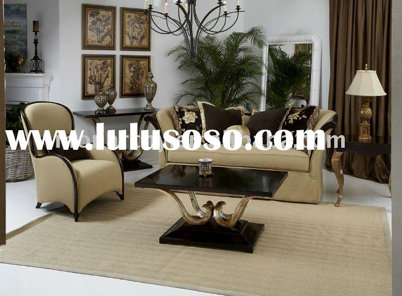 V087B carving solid wooden sofa set designs