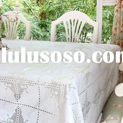 Vinyl Lace Tablecloth,PVC printed tablecloth