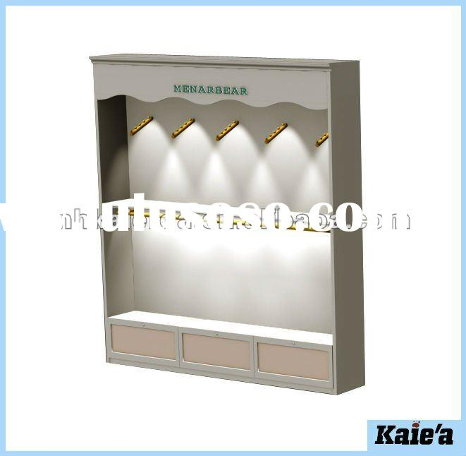 Wooden clothes display rack,retail clothes display rack,store display fixtures