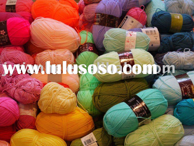 Wool / Acrylic Blended Yarn : PBWC-0418