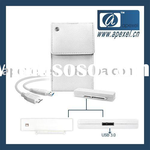"XD-2531-U30 2.5"" usb3.0 HDD external box with leather bag"