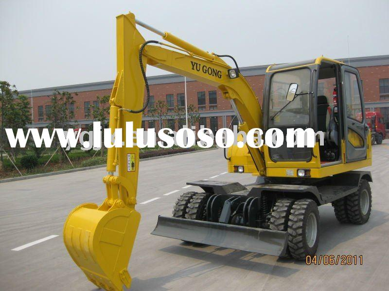 YGL65 6 ton, 4 wheel drive, wheel digger machine with well price, high power machine
