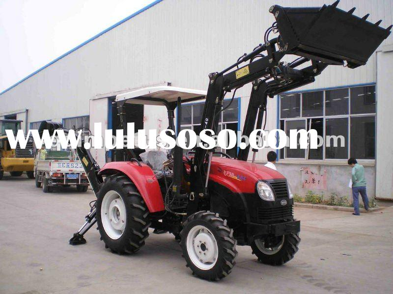 YTO tractor with front end loader and backhoe,45hp,4x4wd