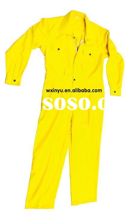 Yellow high quality raincoat rubber