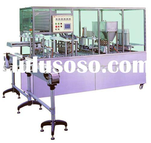 Yogurt water Cup Filling Sealing Machine (for pre-cut lid)