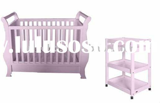 (W-BB-62) solid pine baby furniture set