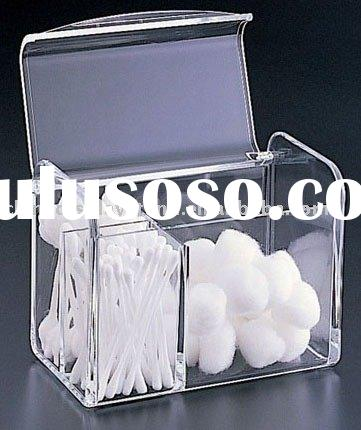 acrylic box,acrylic cotton swab dispenser,acrylic storage box,acrylic container,acrylic cotton ball