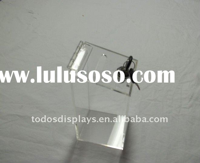 acrylic money box with lock