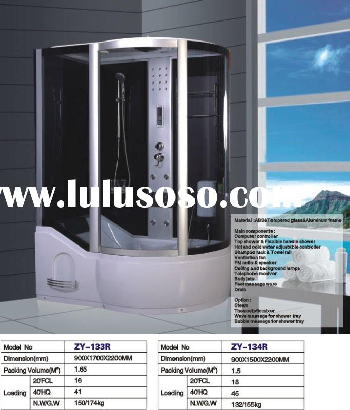 best seller!!!5mm tempered glass shower room with CE/steam shower with bath tub/European market stea