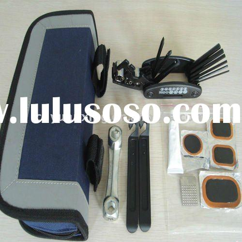 bicycle repair tool kit with storage bag