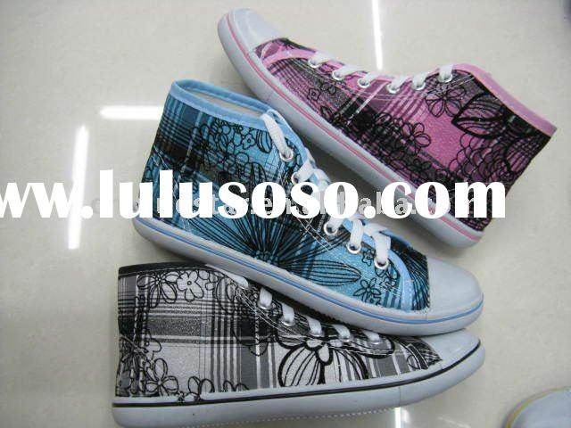 canvas high top shoes