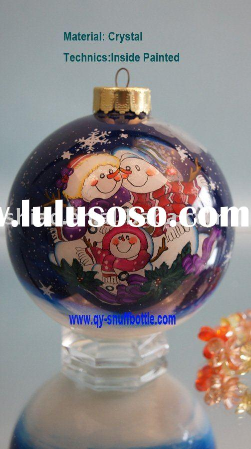 christmas promotion of 9cm glass ball inside painted christmas craft ideas pic as christmas gift ite