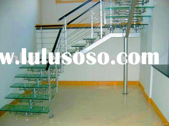classical steel glass stairs (staircase)