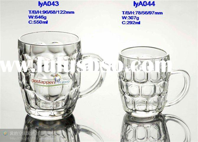 clear cut glass beer mugs/ tea mugs/ coffee mugs