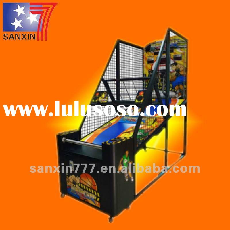 coin operated arcade redemption street basketball game machine