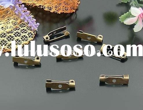 costume anitque Vintage/Antique Bronze plated metal bar pin back brooch
