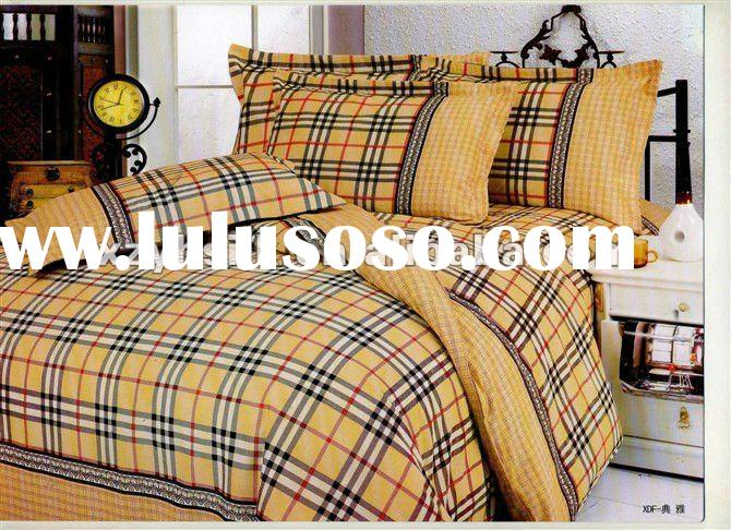 cotton/cotton polyester satin stripe bed bed sheet