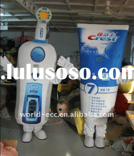 customized costumes, advertising costumes, toothpast and toothbrush mascot costumes