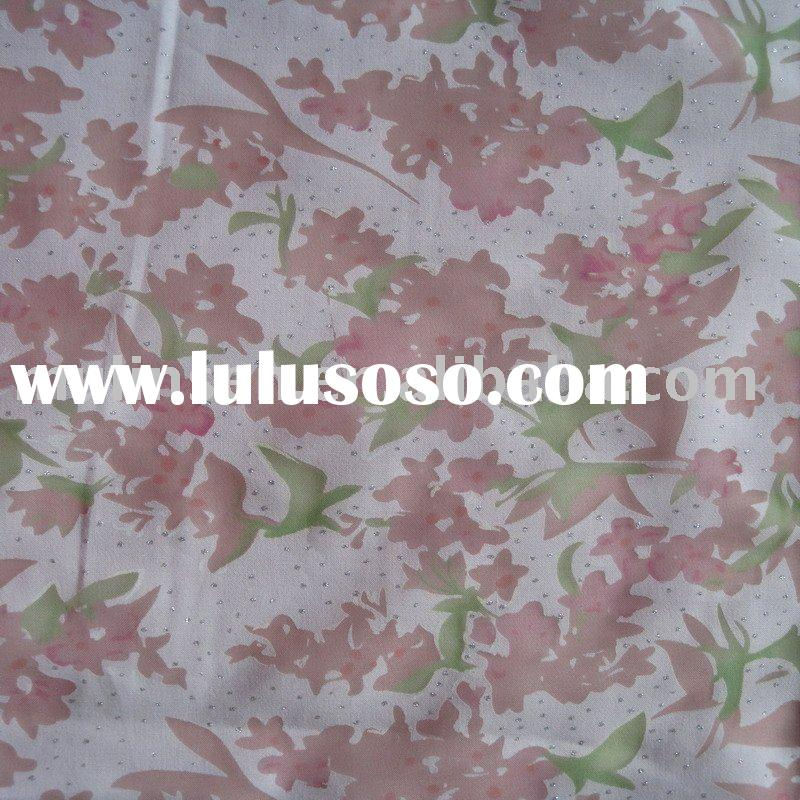 cvc burn out fabric/cotton polyester fabric