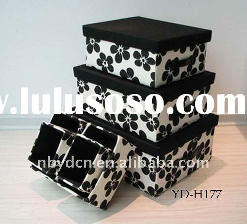 decorative fabric flock household storage boxes