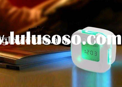 desktop digital mini lcd clock lcd alarm clock magic lcd clock