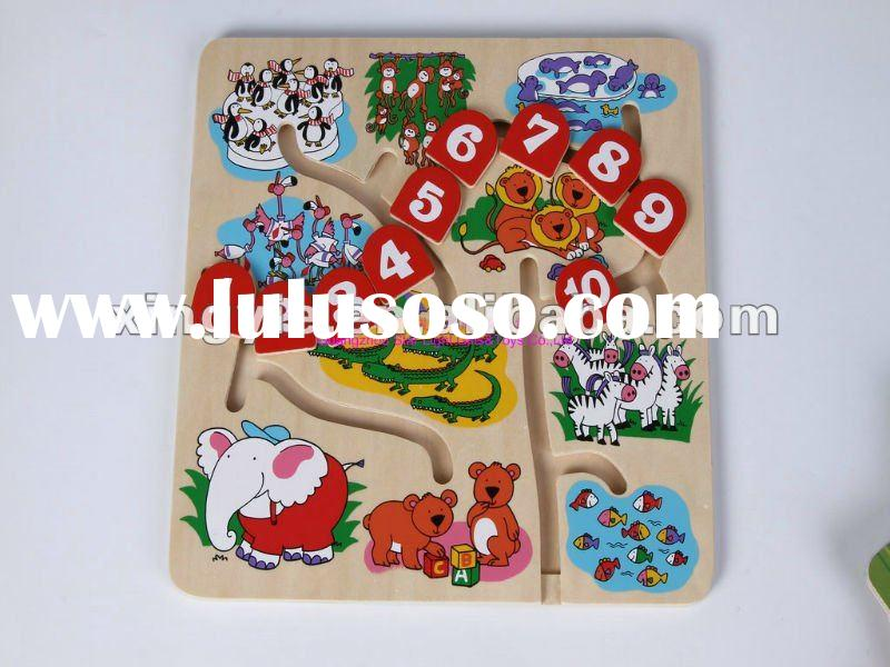 educational wooden sliding puzzle for kids