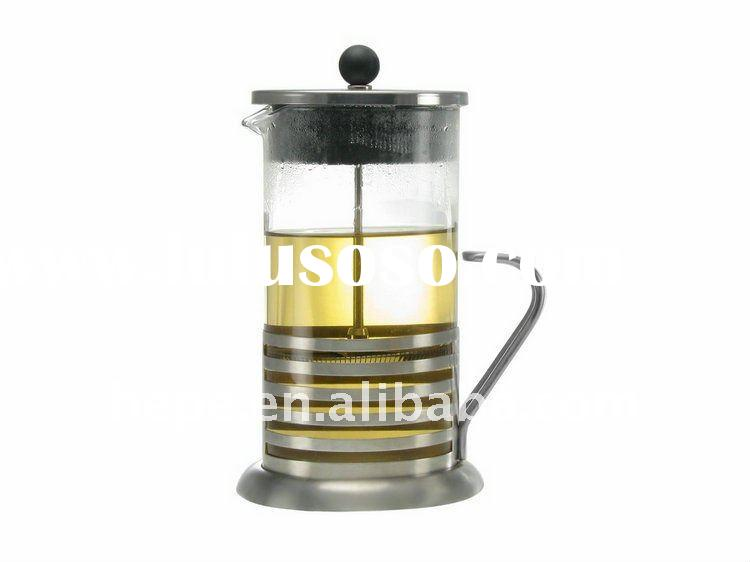 franch press coffee teapot with stainless steel strainers
