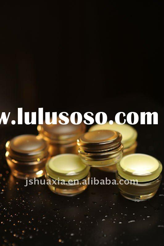 golden cosmetic acrylic cream jar