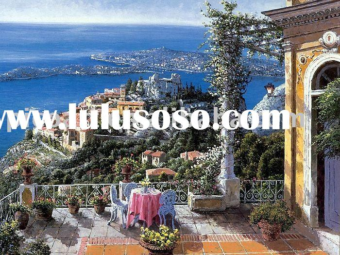 hand painted landscape oil painting(Eze Villa)