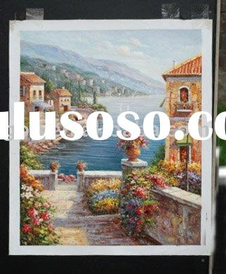 handmade garden landscape painting oil on canvas