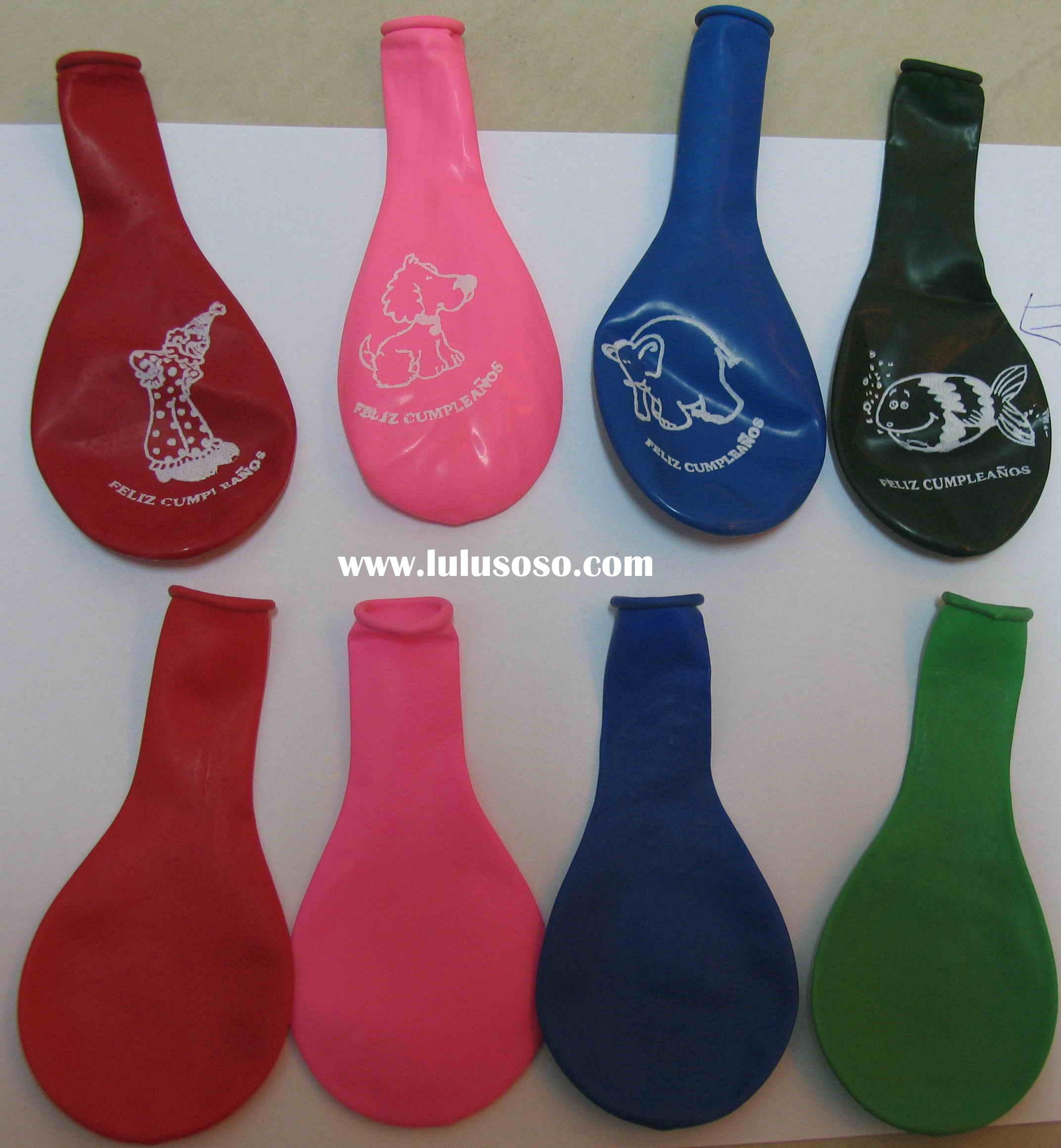 helium party shape balloons