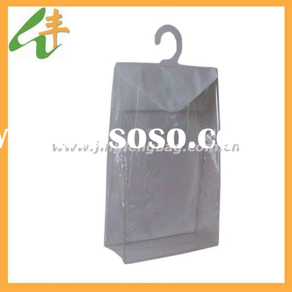 hot sale fashion plastic hook clear pvc garment bag