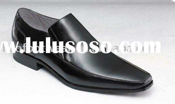 men's black hot shoes, black pu men's shoes,oxford business men shoes