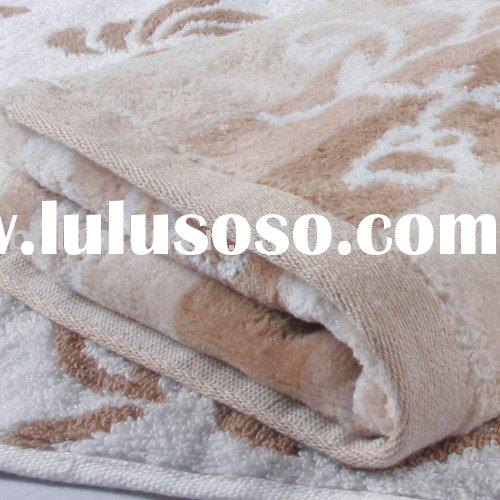 organic cotton towel / yarn dyed, jacquard without harmful chemicals