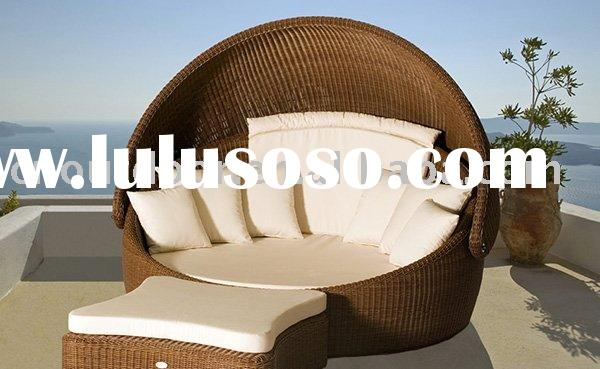 outdoor bed or sun lounger or outdoor wicker bed