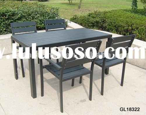 outdoor plastic wood table , patio table