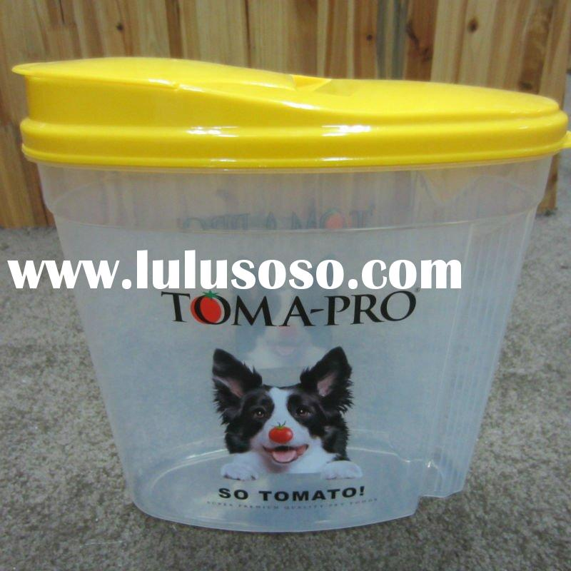 plastic 4.5L pet food Storage container