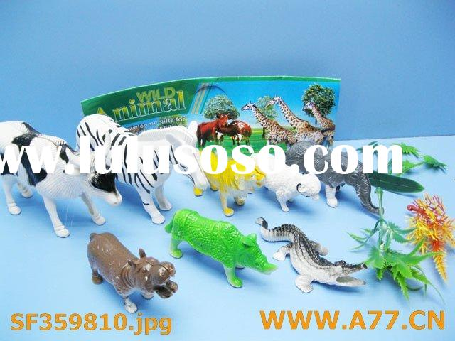 plastic animal play set