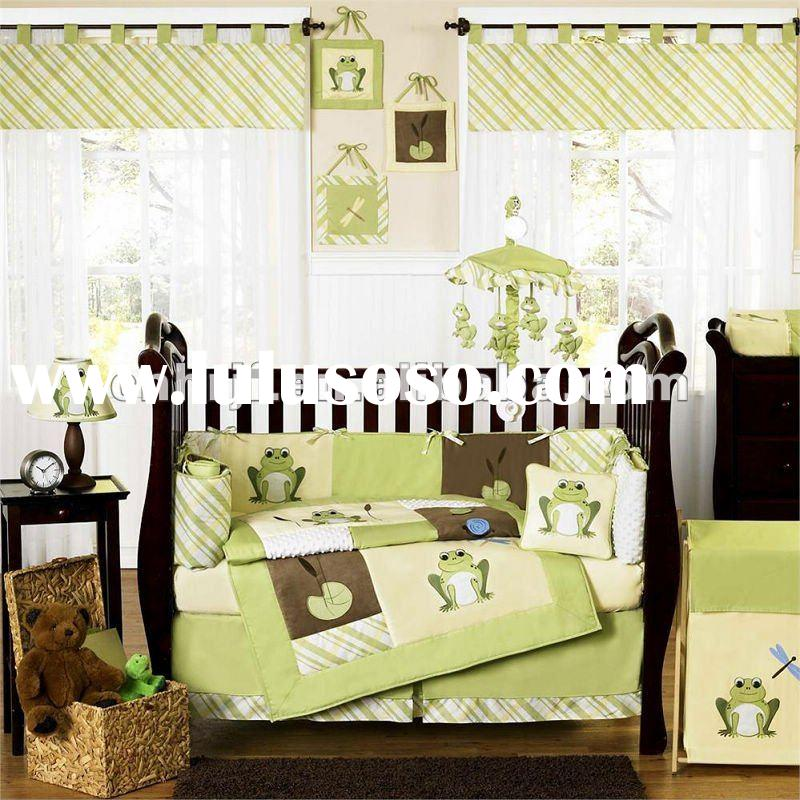 printed children bedding set/ sun flower baby bedding set /bed sheets pictures/cotton bedding set /b
