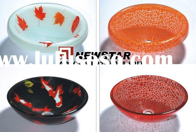 pyrex glass bathroom sinks (cuff basin)
