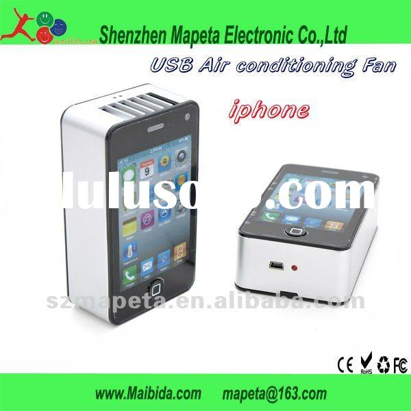 rechargeable iphone shape outdoor usb portable mini air conditioner
