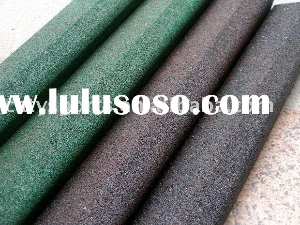 recycled rubber block use in artificial grass
