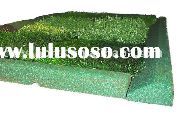 recycled rubber dam(fence, block) use in artificial grass